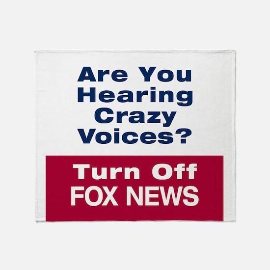 Turn Off Fox News Throw Blanket