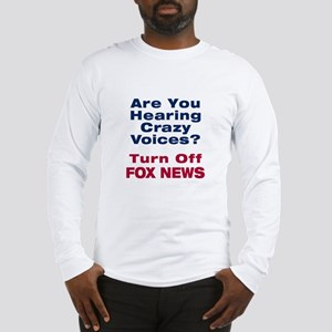 Turn Off Fox News Long Sleeve T-Shirt