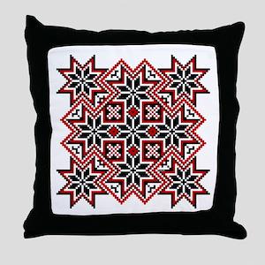 Folk Design 8 Throw Pillow