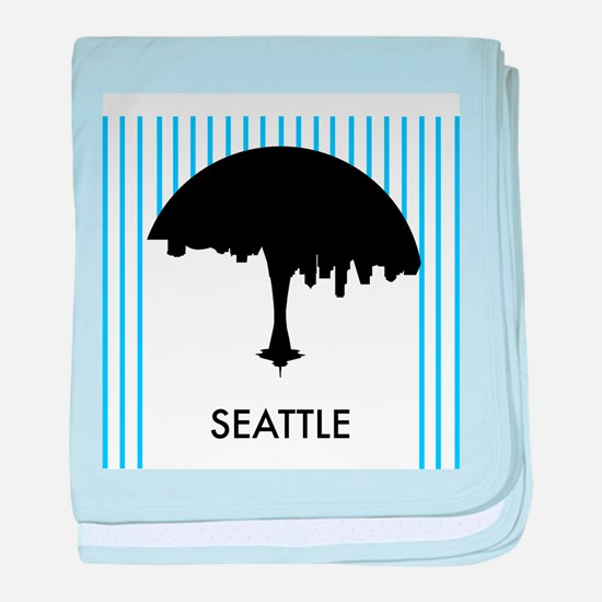 Seattle City Logo baby blanket