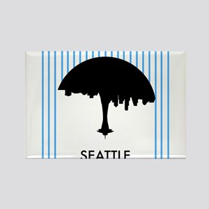Seattle City Logo Rectangle Magnet