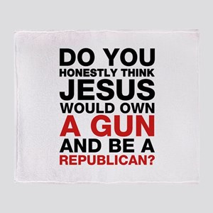 Jesus Is Not A Gun-Toting Republican Throw Blanke
