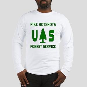 Pike-Hotshots-Shirtback-Green Long Sleeve T-Sh