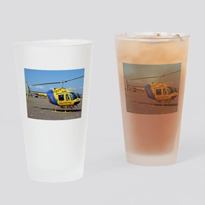 Helicopter (blue & yellow) Drinking Glass