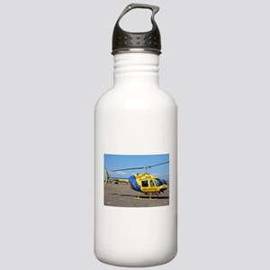 Helicopter (blue & yellow) Water Bottle