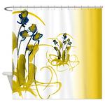 Atom Flowers #3 Shower Curtain