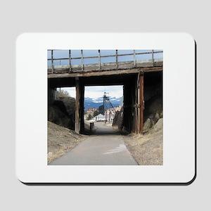 Butte, MT Under the Bridge Gallow Frame Mousepad