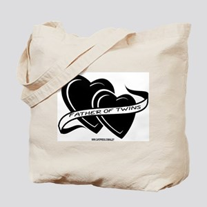 Father Of Twins (Hearts) Tote Bag