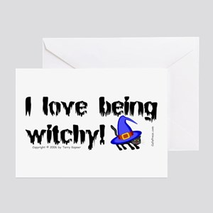 Being Witchy (text) Greeting Cards (Pk of 10)