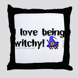 Being Witchy (text) Throw Pillow