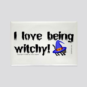 Being Witchy (text) Rectangle Magnet