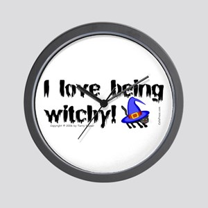 Being Witchy (text) Wall Clock