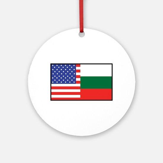 USA/Bulgaria Ornament (Round)