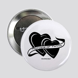 Mother Of Twins (hearts) Button