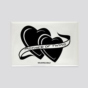 Mother Of Twins (hearts) Rectangle Magnet