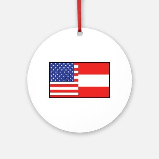 USA/Austria Ornament (Round)