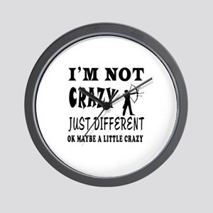 I'm not Crazy just different Archery Wall Clock