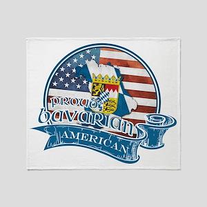 Proud Bavarian American Throw Blanket
