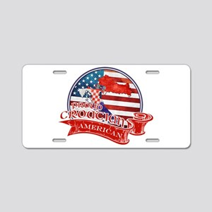 Proud Croatian American Aluminum License Plate
