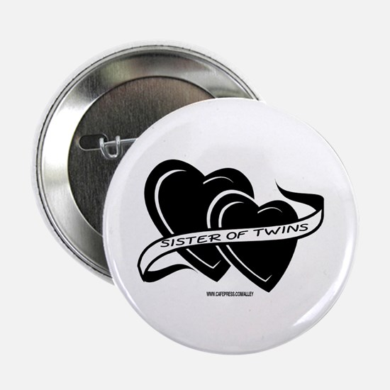 Sister Of Twins (hearts) Button