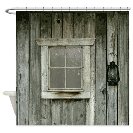 Old Wood Cabin Shower Curtain By Saltypro Shop