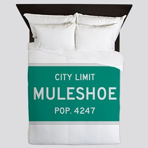 Muleshoe, Texas City Limits Queen Duvet