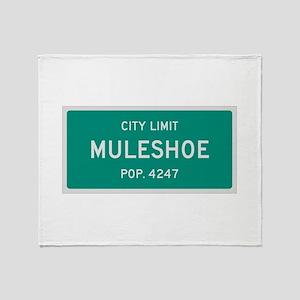 Muleshoe, Texas City Limits Throw Blanket
