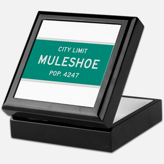 Muleshoe, Texas City Limits Keepsake Box