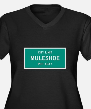 Muleshoe, Texas City Limits Plus Size T-Shirt