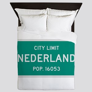 Nederland, Texas City Limits Queen Duvet