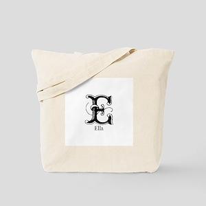 Ella: Fancy Monogram Tote Bag