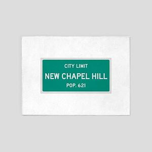 New Chapel Hill, Texas City Limits 5'x7'Area Rug