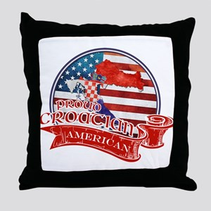 Proud Croatian American Throw Pillow