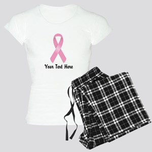Pink Awareness Ribbon Custo Women's Light Pajamas