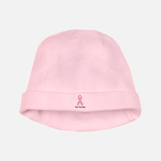 Pink Awareness Ribbon Customized Baby Hat