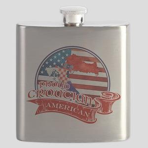 Proud Croatian American Flask