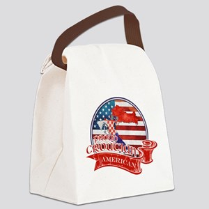 Proud Croatian American Canvas Lunch Bag