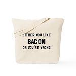 You Like Bacon Or You're Wrong Tote Bag