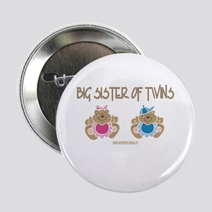 Big Sister Of Twins (boy/girl) Button