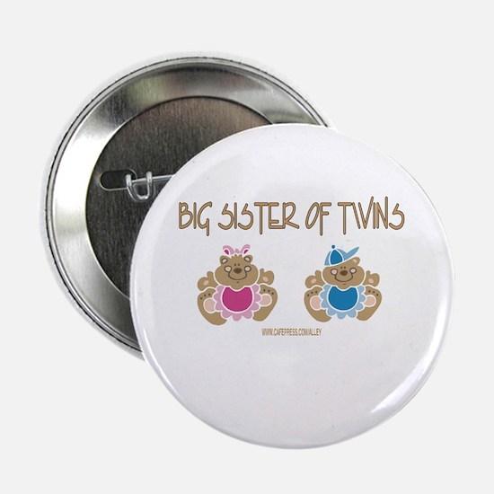 Big Sister Of Twins (boy/girl) Button