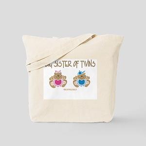 Big Sister Of Twins (boy/girl) Tote Bag