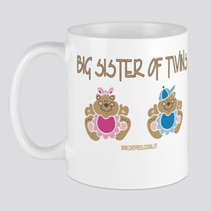 Big Sister Of Twins (boy/girl) Mug