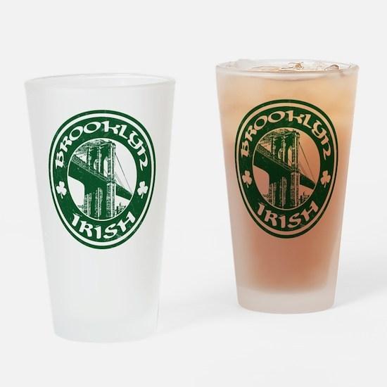 Brooklyn NY Irish Drinking Glass