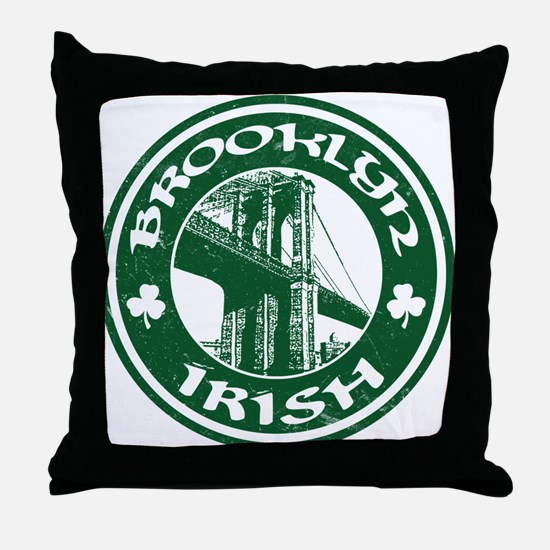Brooklyn NY Irish Throw Pillow