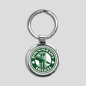 Brooklyn NY Irish Round Keychain