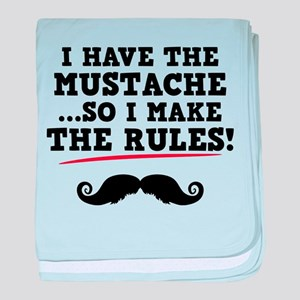 Mustache Rules baby blanket