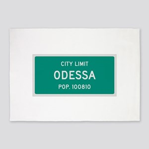 Odessa, Texas City Limits 5'x7'Area Rug