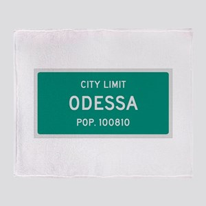 Odessa, Texas City Limits Throw Blanket