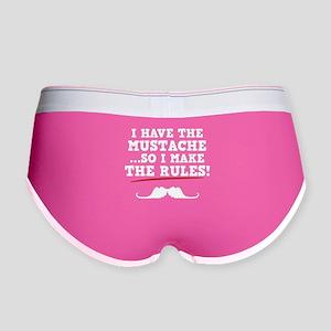 Mustache Rules Women's Boy Brief