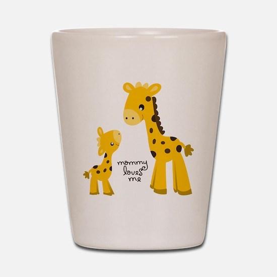 Mother and child Giraffe Shot Glass